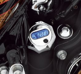 Harley-Davidson® Oil Level and Temperature Dipstick with Lighted LCD Readout- Chrome 62700005A
