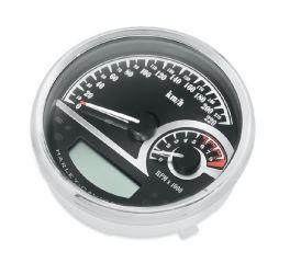 Harley-Davidson® Black Dial Analog Speedometer/Tachometer 74777-11B