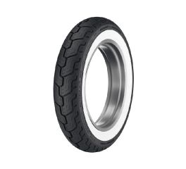 Harley-Davidson® Dunlop Tire Series- D402 MU85B16 Wide Whitewall- 16 in. Rear, Dunlop 43353-03
