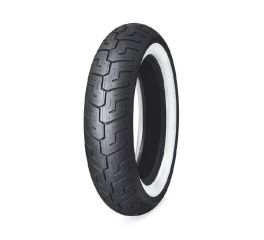 Harley-Davidson® Dunlop Tire Series- D401 150/80B16 Wide Whitewall- 16 in. Rear, Dunlop 55192-10