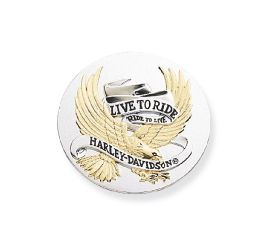 Harley-Davidson® 2.5 in. Live To Ride Gold Medallion 99028-90T