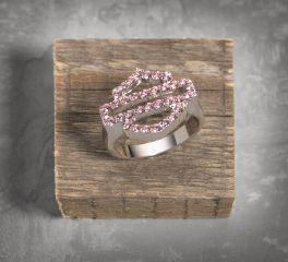 Harley-Davidson® Women's Pink Label Bar & Shield Logo Ring 99401-14VW