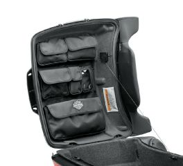 Harley-Davidson® Tour-Pak Lid Fitted Lining with Organizer - Gray 53000302