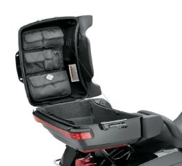 Harley-Davidson® Tour-Pak Lid Fitted Lining with Organizer - Premium Black 53000392