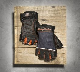 Harley-Davidson® Women's Cora Leather & Mesh Fingerless Gloves 98296-14VW