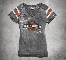 Harley-Davidson® Women's Genuine Oil Can Burnout Tee 99196-14VW