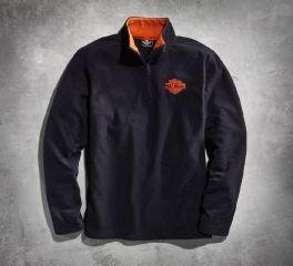 Harley-Davidson® Men's Black 1/4-Zip Logo Fleece 99001-15VM