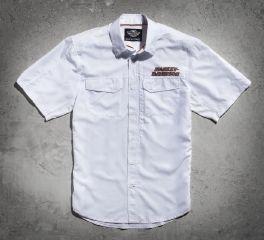 Harley-Davidson® Men's White Short Sleeve Performance Shirt 99015-15VM