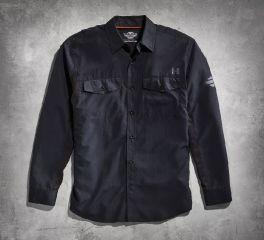 Harley-Davidson® Men's Black Long Sleeve Performance Shirt 99018-15VM