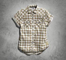 Harley-Davidson® Women's Genuine Short Sleeve Plaid Shirt 99136-15VW