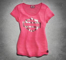 Harley-Davidson® Women's Pink Label Embellished Tee 99119-15VW