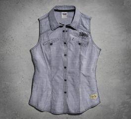 Harley-Davidson® Women's Eagle Snap Front Shirt 99141-15VW