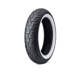 Harley-Davidson® Dunlop 17 in. Rear Tire 160/70B17 - Wide White Wall, Dunlop 43200020