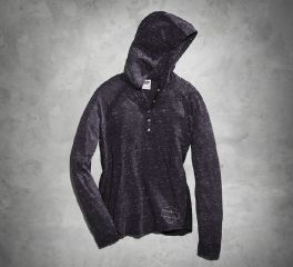 Harley-Davidson® Women's Lace Accent Hooded Henley 99149-16VW