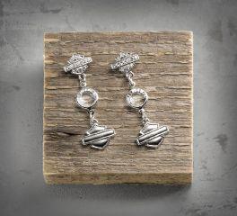 Harley-Davidson® Women's Rhinestone Shield Earrings 99528-16VW