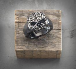 Harley-Davidson® Women's Rhinestone Skull Stretch Ring 99531-16VW