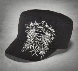 Harley-Davidson® Women's Embellished Winged Flat Top Cap 99543-16VW