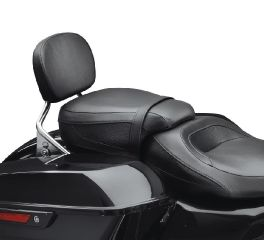 Harley-Davidson® Low-Profile Passenger Pillion - Black Smooth Vinyl 52400141