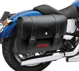 Harley-Davidson® H-D Detachables Locking Leather Saddlebags 90201328