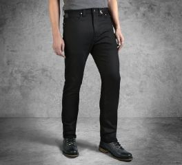 Men's Black Slim Fit Black Label Jeans 99032-16VM