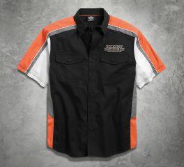 Harley-Davidson® Men's Performance Vented Pinstripe Flames Shirt 99046-16VM