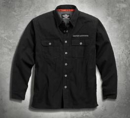 Harley-Davidson® Men's Pinstripe Flames Shirt Jacket 99053-16VM