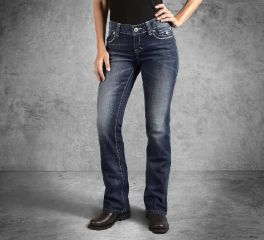 Harley-Davidson® Women's Boot Cut Embellished Low-Rise Jeans 99156-15VW