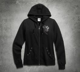 Harley-Davidson® Women's Scroll Skull Hoodie 99162-16VW