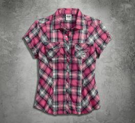 Harley-Davidson® Women's Pink Label Snap Front Shirt 99168-16VW
