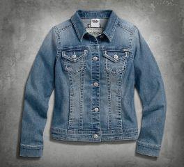 Harley-Davidson® Women's Patches & Pins Denim Jacket 99169-16VW
