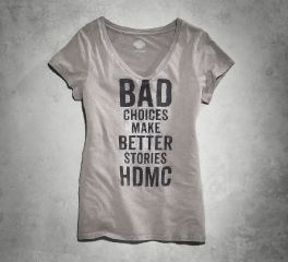 Women's Bad Choices V-Neck Tee