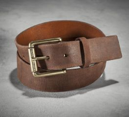 Harley-Davidson® Men's Distressed Tan Leather Belt 97714-16VM