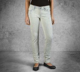 Women's Skinny Splatter Mid-Rise Jeans 96375-16VW