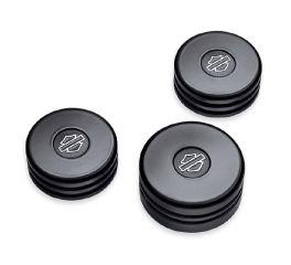 Harley-Davidson® Gloss Black Upper Fork Nut Covers 45800015