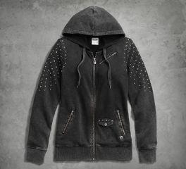 Harley-Davidson® Women's Studded Hoodie 96001-17VW