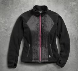 Harley-Davidson® Women's Pink Label Stitched Fleece Jacket 98579-17VW