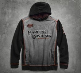 Harley-Davidson® Men's Iron Block Pullover Hoodie 99001-17VM