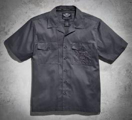Harley-Davidson® Men's S/S Skull Garage Shirt 99028-17VM