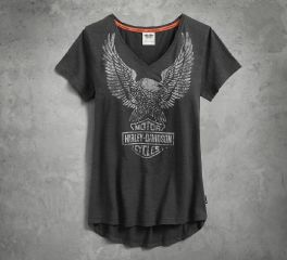 Harley-Davidson® Women's Performance Eagle Tee Coldblack Technology 99138-17VW