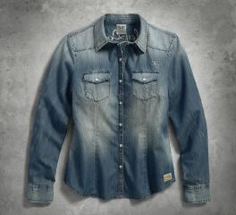 Harley-Davidson® Women's Genuine Classic Denim Shirt 99159-17VW