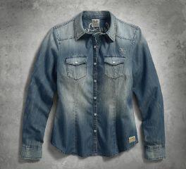 Harley-Davidson® Women's Genuine Classic Denim Shirt 99159-17VW