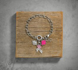 Harley-Davidson® Women's Pink Label Charm Bracelet 99563-17VW