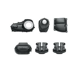 Harley-Davidson® Gloss Black Engine Cover Kit – Milwaukee-Eight Powertrain 92500059