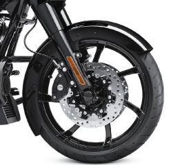 Harley-Davidson® Vivid Black Custom Wrapped Front Fender 58900196DH