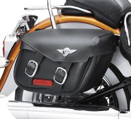 Harley-Davidson® Softail Leather Saddlebags- Fat Boy Styling 90320-00D