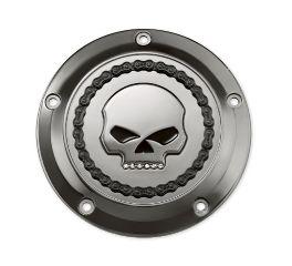 Harley-Davidson® Skull & Chain Derby Cover- Smokey Chrome 25700130