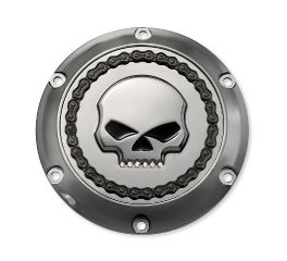 Harley-Davidson® Skull & Chain Derby Cover- Smokey Chrome 25700131