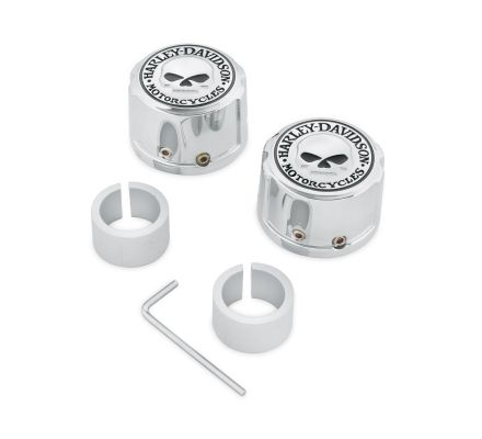 Harley-Davidson® Willie G. Skull Front Axle Nut Covers 43163-08A