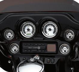 Harley-Davidson® Fuel Gauge - Spun Aluminum Face 75113-04A