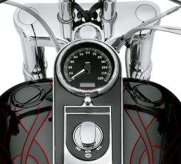 Harley-Davidson® Flush-Mount Fuel Cap and Gauge Kit 75327-09C